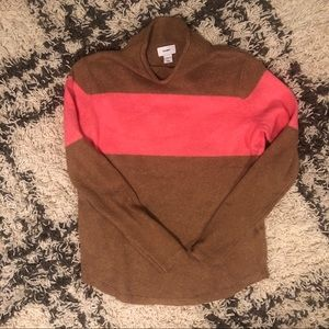 NWT Old Navy camel and pink stripe sweater size XS